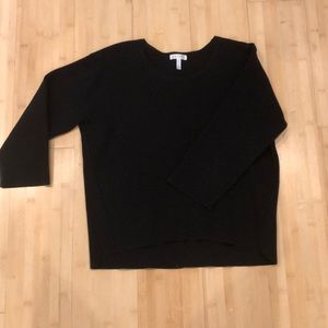 Leith, cropped sweater, with 3/4 sleeves.